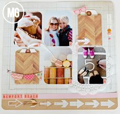 Midwestern Girl: A fun layout with Lifestyle Crafts...or: how I can't get enough arrows...no really...I can't.