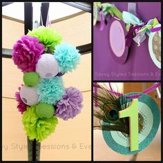 Savvy Styled Sessions & Events: Peacock Theme 1st Birthday