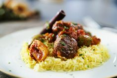 Kapamas - Lamb In Aromatic Tomato Sauce | Greek Food - Greek Cooking - Greek Recipes by Diane Kochilas Sunday Recipes, Lamb Recipes, Greek Recipes, Carolina Rice, Saffron Rice, Greek Olives, Greek Cooking, Stuffed Hot Peppers, Savoury Dishes