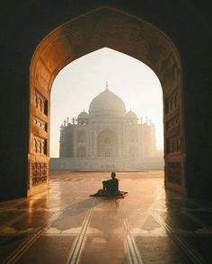 Taj Mahal in Agra, India.