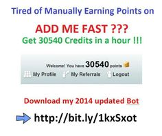 EARN 30540 Points in an hour with my new fast Addmefast bot