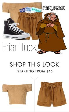 """Friar Tuck~ DisneyBound"" by basic-disney ❤ liked on Polyvore featuring Alice + Olivia, Disney, MANGO and Converse"