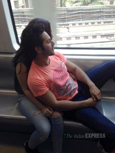 Alia Bhatt and Varun Dhawan taking a ride inside the Mumbai Metro for the promotions of their movie 'Humpty Sharma Ki Dulhania'. #Style #Bollywood #Fashion #Beauty #Handsome