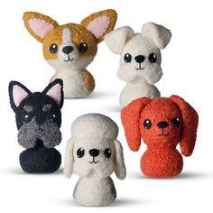 In the Doghouse 1 Felted Knit Amigurumi: Sottish Terrier (Scottie), Sealyham Terrier, Welsh Corgi, Dandie Dinmont Terrier, Minature Dachshund. $6.00