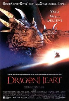 I have loved DragonHeart since I was a kid despite its flaws, and as the first CGI dragon ever committed to film, Draco is what cemented . 90s Movies, Great Movies, Movies To Watch, Fantasy Movies, Sci Fi Fantasy, Movies Showing, Movies And Tv Shows, Cinema Posters, Movie Posters
