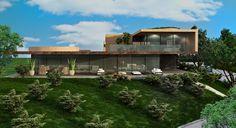 villa complex - Baku - Azerbajan - maurizio favetta Villa, Cabin, House Styles, Home Decor, Homemade Home Decor, Interior Design, Cottage, Home Interiors, Wooden Houses