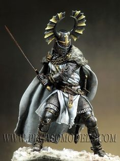 90-003 90MM Metal Figure 90-046 Teutonic Knight, XIV cen.