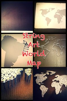 DIY String Art World Map