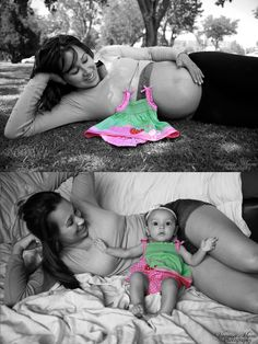 Before and After baby pictures:) Newborn Photos, Pregnancy Photos, Pre Pregnancy, Pregnancy Picture Ideas, Newborn Session, Bebe Video, Newborn Bebe, Photo Bb, Foto Baby