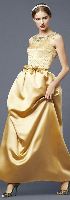 Dolce & Gabbana, S/S 2014* Reminds me of a 1960s inspired Belle (Beauty and the Beast ball gown)