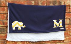 Elephant Baby Blanket Navy and Yellow Chevron by mylittlemookie, $35.00. Great gift for baby!