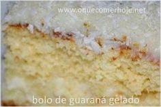 Bolo de Guaraná Gelado receita fácil: Hoje ele não é mais tão famoso, mas o bolo de guaraná gelado já foi muito popular. Quando eu era criança e alguém falava: &quoteTem bolo gelado de ...