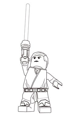 lego star wars luke skywalker coloring pages printable and coloring book to print for free. Find more coloring pages online for kids and adults of lego star wars luke skywalker coloring pages to print. Star Wars Coloring Book, Lego Coloring Pages, Free Printable Coloring Pages, Kids Colouring, Coloring Books, Star Wars Party, Star Wars Birthday, Star Wars Jedi, Star Wars Zeichnungen
