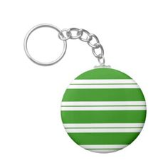 Strips - green and white keychain - christmas keychains family merry xmas personalize gift idea