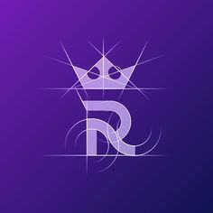 R - royal icon. Features custom typeface R and a crown.  Get logo quote  info@tieatiedesigns.com Typography Logo, Art Logo, Logo Branding, Logo Inspiration, Creative Logo, Web Design, Icon Design, Logo Royal, Logos Online
