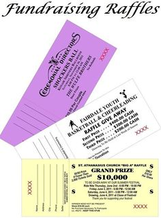 Fundraising Raffles - Fundraising raffles are a great way to raise money, but there are several pitfalls to avoid if you want your raffle to be successful.