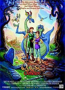 Quest for Camelot is a 1998 American animated feature film from Warner Bros. Animation, based on the novel The King's Damosel by Vera Chapman. The film is about a spirited teenage girl named Kayley who wants to be a knight of the Round Table in Camelot like her father Sir Lionel, and her companion, a blind young man named Garrett who lives in solitude and their quest to find Excalibur.