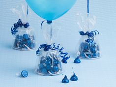 Why weigh down your balloons with something boring, when a chocolicious weight made with KISSES Chocolates will make your decorations KISS-ational? This is one birthday craft your party-goers won't soon forget!