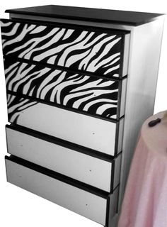 Google Image Result for http://4.bp.blogspot.com/-wR7X0fBAFvc/T7L45TtmN5I/AAAAAAAAAg8/dbAJFYDO2Mg/s1600/zebra+print+dress+front+half+completed.jpg  How to paint furniture with zebra print diy- pretty great.