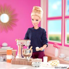 Flour power! Mixing up my morning, swipe to see what's cooking!  #barbie #barbiestyle