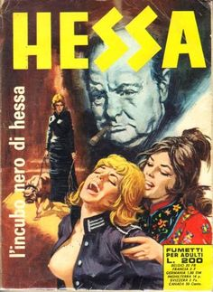 Cover for Hessa (Ediperiodici, 1970 series) Pulp Magazine, Magazine Art, Pulp Fiction Kunst, Classic Film Noir, Heavy Metal Art, Art Jokes, Book Cover Art, Book Covers, Hessa