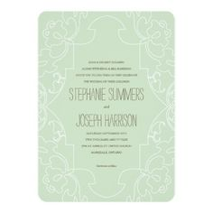 Vintage Lace Wedding Invitation // Eton Blue