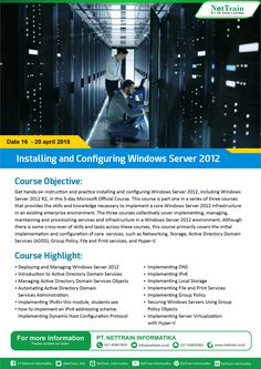 Installing and Configuring Windows Server 2012.  Get hands-on instruction and practice installing and configuring Windows Server 2012, including Windows Server 2012 R2, in this 5-day Microsoft Official Course.  #InfoNetTrain #Installing #Configuring #WindowsServer2012 #Microsoft #Deploying #Managing #ActiveDirectory #ServicesObjects #ConfigurationProtocol