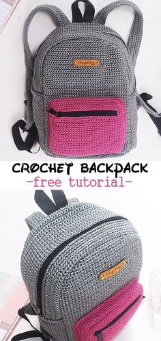 Crochet Backpack patterns afghan patterns crochet patterns afghan scarf blanket A great tutorial to learn how to crochet this school backpack. A great tutorial to learn how to crochet this school backpack. Crochet Diy, Learn To Crochet, Crochet Crafts, Crochet Projects, Tutorial Crochet, Sewing Projects, Crochet Bag Tutorials, Crochet Ideas, Crochet Handbags