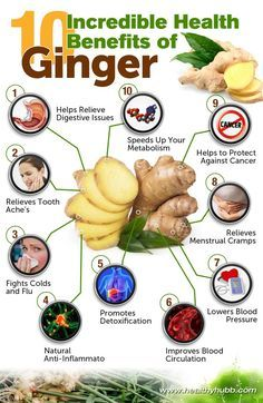 10 Incredible Health Benefits of Ginger! An ancient spice used in multiple cultures for thousands of years, especially popularized for its medicinal benefits and improved health effects. It comes in its raw, fresh root form, dried, pickled, ground and juiced, all of which offer a strong and warm flavor suitable for just about any meal.