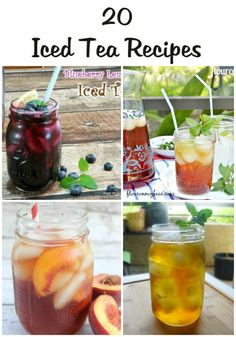 Cool off this Memorial day with one of these 20 Iced Tea Recipes.<br> Cool off this Memorial day with one of these 20 Iced Tea Recipes. Fruit Drinks, Smoothie Drinks, Healthy Drinks, Smoothie Recipes, Beverages, Smoothies, Infused Water Recipes, Alcohol Recipes, Iced Tea Recipes