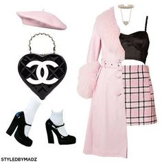 obsessed with chanel ✨💍 (more outfits at - - Cute Swag Outfits, Mode Outfits, Girly Outfits, Retro Outfits, Classy Outfits, Stylish Outfits, Princess Outfits, Couple Outfits, Clueless Outfits