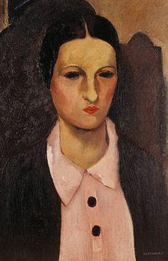 Retrato de Maria (Portrait of Maria) by Candido Portinari (Brazilian 1903-1962)