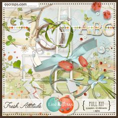 Fresh Attitude {Full kit} #Oscraps #products #scrapbookdigital #sales #lineascrap #scrapbook #digital