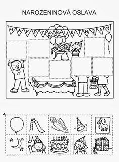 Z internetu - Sisa Stipa - Picasa Web Albums Activities For 6 Year Olds, Abc Activities, Teaching Time, Teaching Tools, File Folder Activities, Hidden Pictures, School Worksheets, Cut And Paste, Math Lessons