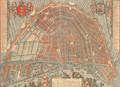 Amsterdam in the late century Amsterdam Map, Amsterdam City Centre, Early World Maps, Star Fort, Hellenistic Period, Classical Antiquity, Old Maps, City Maps, History Facts