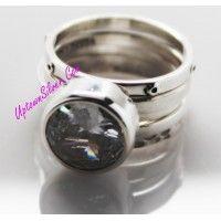 Silpada Artisan Jewelry Size 9 10 Large Statement Cubic Zirconi..