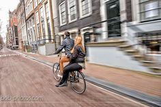 Loveshoot Amsterdam on the bike Bob-photos.com