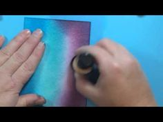 Galaxy sky with distress inks - YouTube
