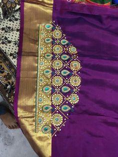Wedding Saree Blouse Designs, Best Blouse Designs, Pattu Saree Blouse Designs, Simple Blouse Designs, Magam Work Designs, Aari Work Blouse, Kutch Work, Aari Embroidery, Maggam Works