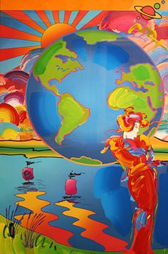 """PETER MAX """"EARTH DAY"""""""