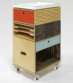 The Trolley modular filing and storage system by Labt in Belgium.