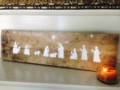 Rustic Wooden Pallet Art Nativity Sign for by lotuspetale on Etsy
