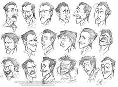 Drawing tips, facial expressions, drawing expressions, disney expressions, Character Design Cartoon, Character Sketches, Character Design References, Character Drawing, Character Design Inspiration, Boy Character, Character Illustration, Disney Sketches, Disney Drawings