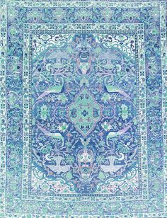 Persian rugs...aaaaahhhh. A favorite, and this one is in my favorite color. Blue!