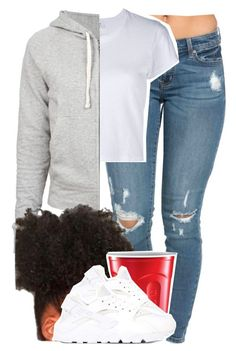 """1008"" by tuhlayjuh ❤ liked on Polyvore featuring RE/DONE, James Perse and NIKE"