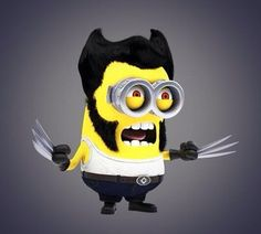 The Wolverine Minion. via : https://twitter.com/WeTheMinions, Minions!!#despicableme