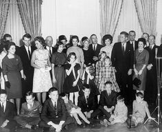 Swearing in of Cabinet members--pic with their families, 1961.