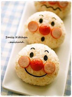 Anpanman Onigiri Charaben Recipe - Yummy this dish is very delicous. Let's make Anpanman Onigiri Charaben in your home! Bento Kids, Bento Box Lunch, Bento Lunchbox, Cute Bento Boxes, Bento Recipes, Baby Food Recipes, Food Baby, Cute Food, Yummy Food