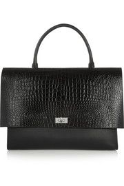 GIVENCHY  Large Shark bag in black croc-effect leather and suede $2,940