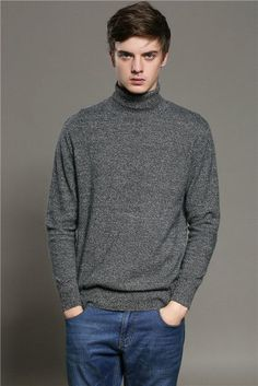306d6b773 Pure Color Cashmere Sweater Men Autumn Winter Knitted Pullover Warm 2017 Men s  Turtleneck Sweaters Pullovers Oversized